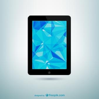 Tablet con fondo de pantalla abstracto