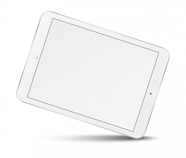 Tablet pc con pantalla en blanco.