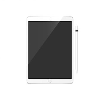 Tablet pro set mockup vector