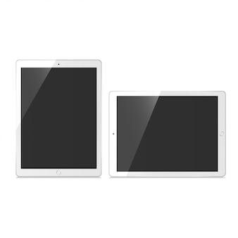Tablet set mockup vector