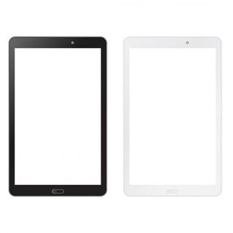Tableta en blanco y negro imitan para arriba