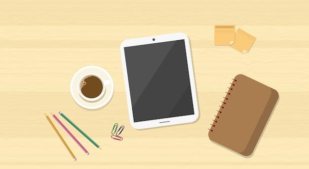 Tableta de madera de la tableta de la parte superior del escritorio de madera del lugar de trabajo