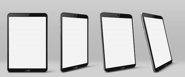 Tableta moderna con pantalla en blanco