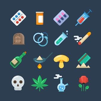 Tabletas de drogas ilegales