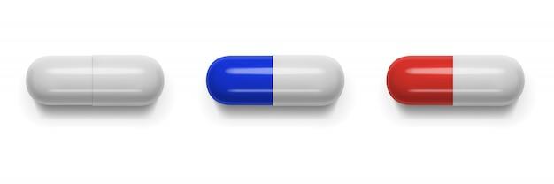 Tabletas, píldoras, vitaminas de forma ovalada.