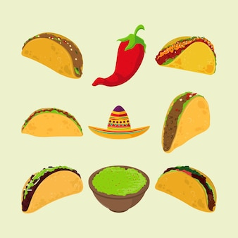 Tacos de comida mexicana
