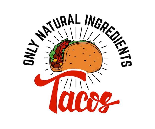 Tacos elemento para logotipo, etiqueta, emblema, signo. ilustración