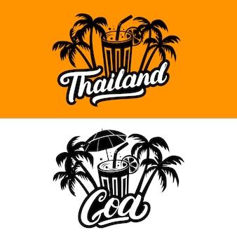 Tailandia y goa texto escrito a mano