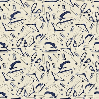 Tailor shop seamless pattern