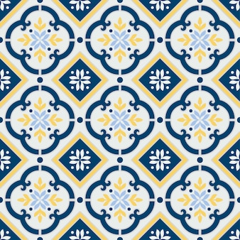 Talavera mexicana, patrón de azulejos vintage.