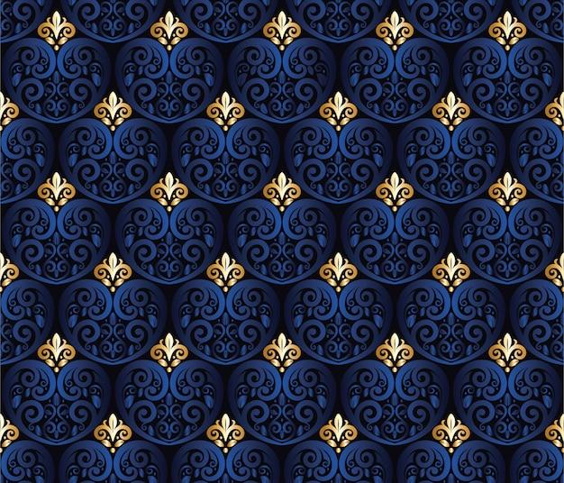 Talla floral de patrones sin fisuras en forma de corazón