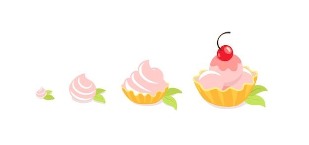Tamaños de tortas. recompensa de postre. tarta de hojaldre. pastel de lujo.