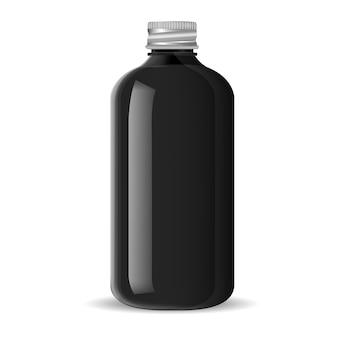 Tapa de aluminio. frasco de farmacia para productos médicos.
