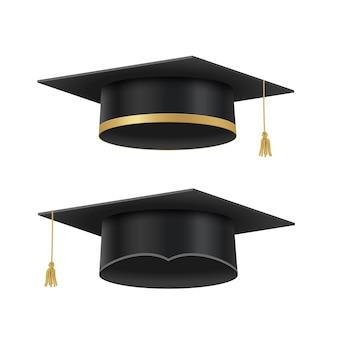 Tapas académicas para la ceremonia de graduación en la escuela secundaria.