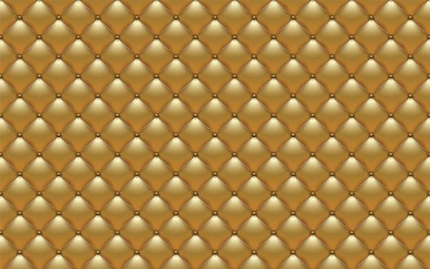 Tapicería abstracta de vector o fondo de sofá de textura de cuero dorado
