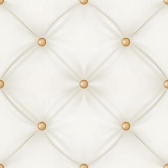 Tapicería de cuero blanco de fondo transparente.