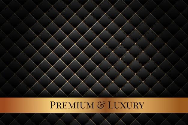 Tapicería con patrón de diamantes de lujo premium