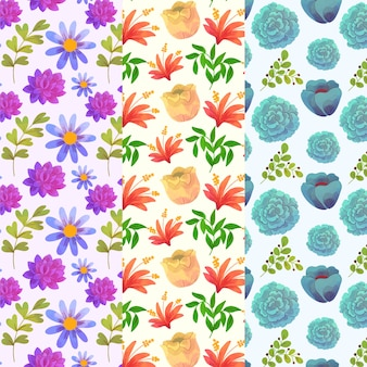Tapiz de pared con flores de primavera flores acuarela