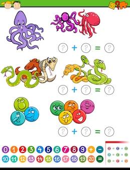Tarea matemática para niños