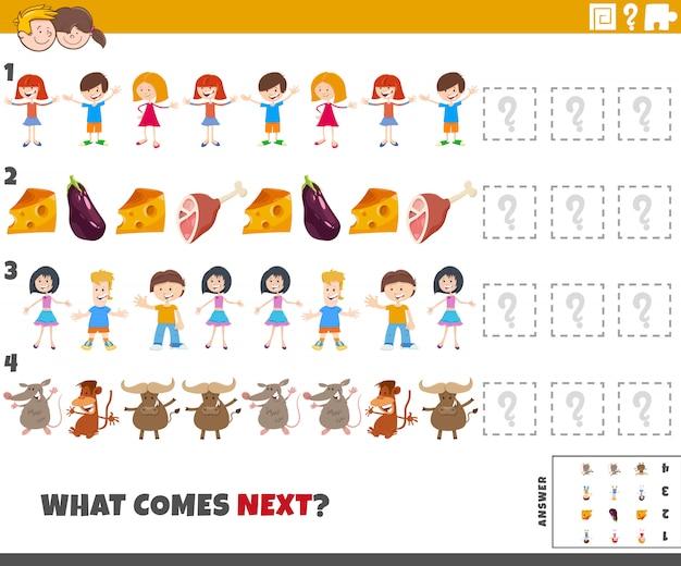 Tarea de patrón educativo para niños de preescolar y primaria