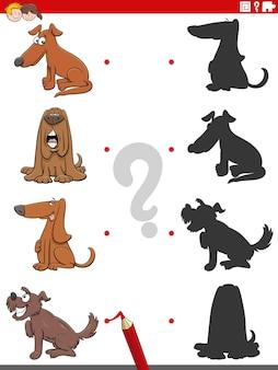 Tarea de sombra con perros divertidos