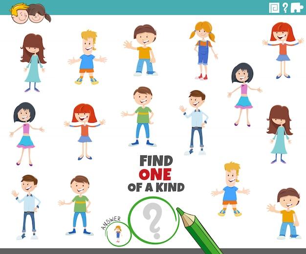Una tarea única con personajes infantiles