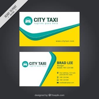 Tarjeta abstracta de taxi