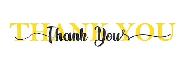 Tarjeta de agradecimiento. letras de una línea. hermosa tarjeta de felicitación rayado caligrafía texto negro.