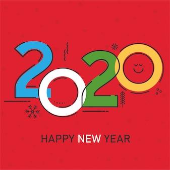 Tarjeta de año nuevo 2020