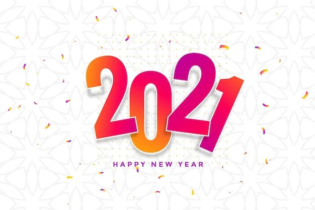 Tarjeta de año nuevo con confeti