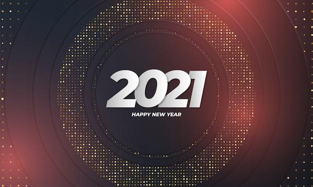 Tarjeta de año nuevo elegante con fondo abstracto