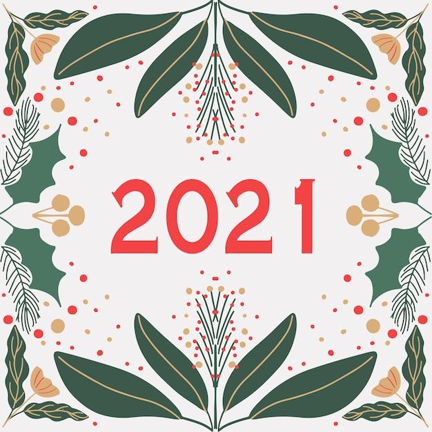 Tarjeta de año nuevo moderno estilo art deco