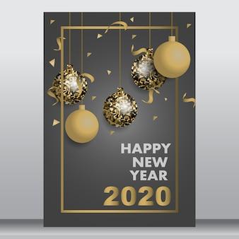 Tarjeta de año nuevo o póster
