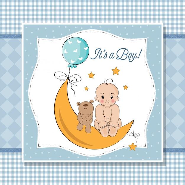 Tarjeta de baby boy ducha
