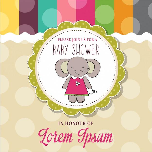 Tarjeta de baby shower con lindo ratoncito