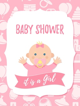 Tarjeta de baby shower.