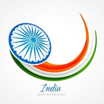 Tarjeta con la bandera de india abstracta