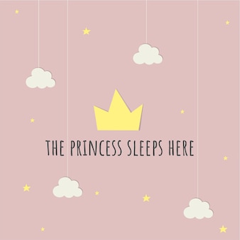 Tarjeta de bebé princesa