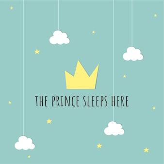 Tarjeta de bebe príncipe