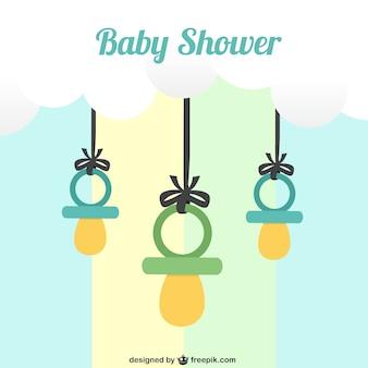 Tarjeta de bienvenida del bebé con chupetes
