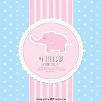 Tarjeta de bienvenida del bebé rosa y azul