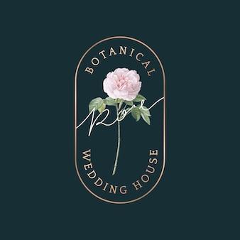Tarjeta de boda botánica