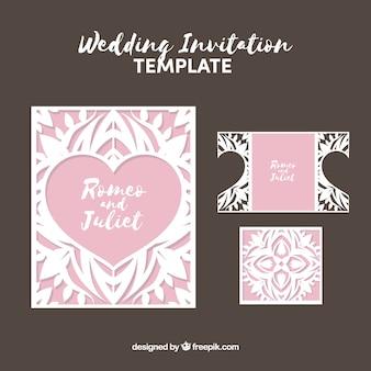Tarjeta de boda con detalles florales