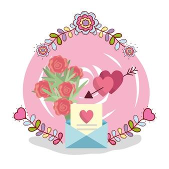 Tarjeta de boda diseño de dibujos animados