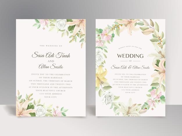 Tarjeta de boda floral