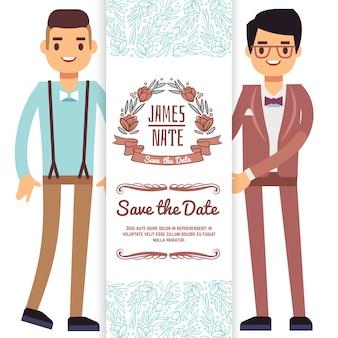 Tarjeta de boda gay