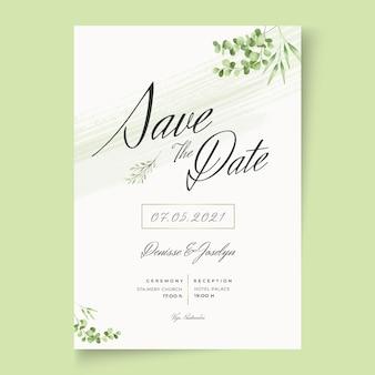Tarjeta de boda mínima