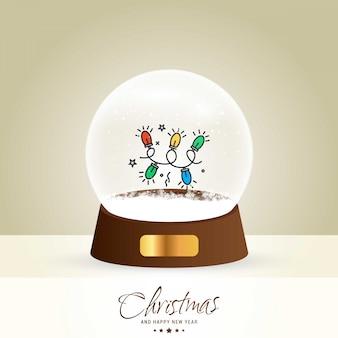 Tarjeta de bola de navidad