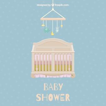 Tarjeta bonita de bienvenida del bebé