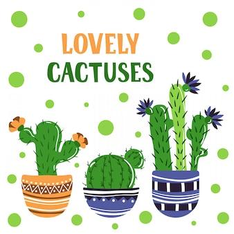 Tarjeta de cactus